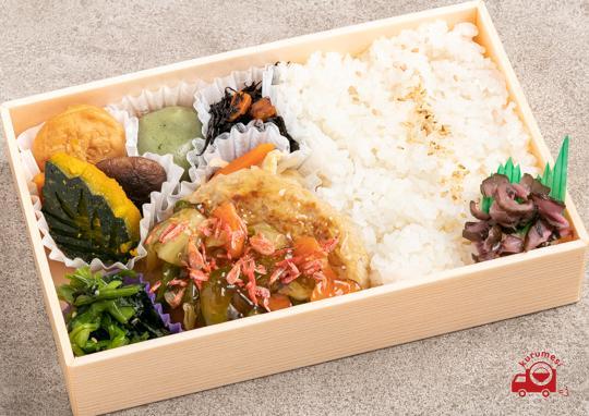 桜えび餡かけ豆腐ハンバーグ弁当|静岡県名物
