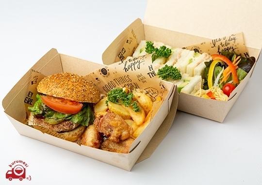 ハンバーガーとアボカド&ツナサラダサンド二段BOX-mainlargeimage